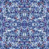 Cirkels en lijnen abstracte objecten kleurrijke naadloze vectorpatroon mooie achtergrond Stock Foto
