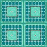 Cirkels in groen dekbed Stock Afbeelding