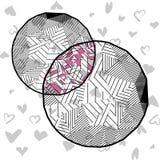 Cirkels in lage polystijl Stock Foto