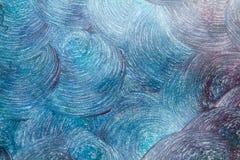 Cirkels met acrylverf die op papier worden getrokken Royalty-vrije Stock Foto's