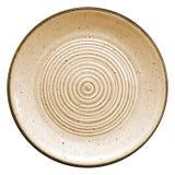 Cirkels op een ceramisch dienblad Stock Afbeelding