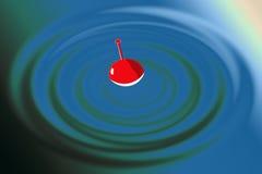 Cirkels op het water royalty-vrije illustratie