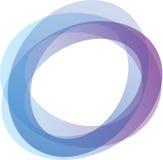 Cirkels in schaduwen van blauw en purper Stock Afbeeldingen