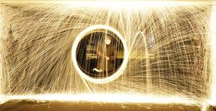 Cirkels van brand Stock Afbeelding