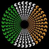 Cirkels van euro met Ierse vlag Royalty-vrije Stock Foto