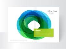 Cirkels van het het malplaatje de abstracte element van de brochuredekking Royalty-vrije Illustratie