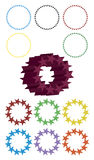 Cirkels van Sterren Royalty-vrije Stock Afbeelding