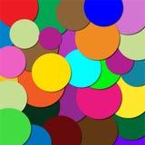 Cirkels van verschillende kleuren Stock Fotografie