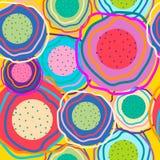 Cirkels van verschillende kleuren Stock Afbeelding