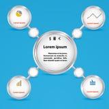 Cirkels voor bedrijfsconcepten. Prese Infographics, Royalty-vrije Stock Fotografie