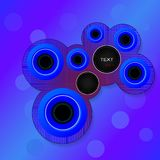 Cirkels voor tekst Stock Foto