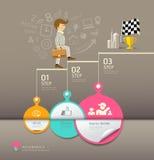 Cirkelsdocument stap, bedrijfsmenseninfographics stock illustratie
