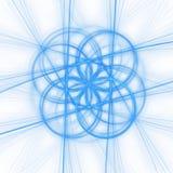 cirkelstrålar Arkivfoto