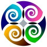 cirkelswirls Arkivfoto