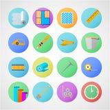 Cirkelsymboler för linoleumdurkservice Arkivfoton