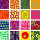 cirkeltegelplattor Arkivfoto