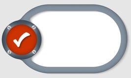 Cirkeltekstkader stock illustratie