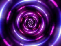 Cirkeltunnelrosa färger Arkivfoto