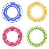 Cirkeluppsättning Abstrakt cirkelsymbol royaltyfri illustrationer
