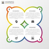 Cirkelvoorwerpen Het ontwerp van Infographic Malplaatje voor diagram, grafiek, presentatie en grafiek Vector illustratie Royalty-vrije Stock Fotografie