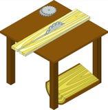 Cirkelzaag, houtbewerkingsmachine Royalty-vrije Stock Foto's