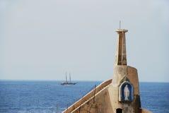 Cirkewwa Leuchtturm Stockfoto