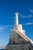 Cirkewwa, Malta - 8. Mai 2017: Alter Cirkewwa-Leuchtturm Stockfoto