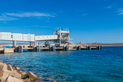 Cirkewwa, Malta - May 8, 2017: Construction of the Cirkewwa Ferry Terminal. Construction of the Cirkewwa Ferry Terminal Royalty Free Stock Images
