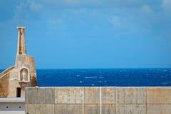 Cirkewwa quay, dokąd promy odjeżdżają dla Gozo Fotografia Stock