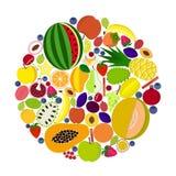 Cirkla av frukter Arkivfoton