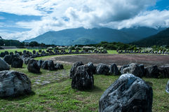 Cirkla av stenar Arkivfoton