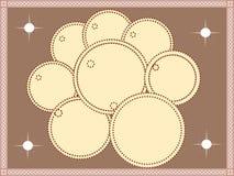 cirkla blomman stock illustrationer
