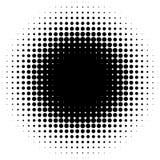 Cirkla den rastrerade beståndsdelen, det abstrakta diagrammet för monokrom för DTP, pr stock illustrationer