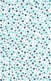 Cirkla den sömlösa modellen i olika färger av blått och gräsplan Royaltyfria Bilder