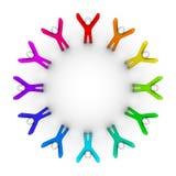 cirkla folk Fotografering för Bildbyråer