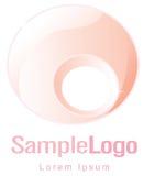 Cirkla logoen för femininity och havandeskap vektor illustrationer