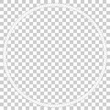 Cirkla ramen från rep, på genomskinlig effektbakgrund Royaltyfri Bild