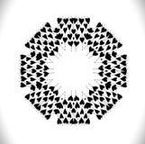 Cirkla ramen som göras av hjärtor med utrymme för text Royaltyfri Bild