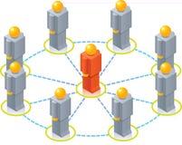 cirkla toyen för iso-nätverksfolk Arkivbild