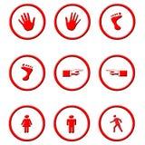 Cirklade symboler Arkivbild