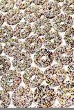 Cirklar av choklader, närbild Arkivfoto