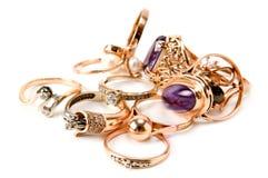 Cirklar av dyrbara metaller royaltyfria bilder