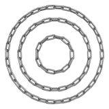 Cirklar av kedjor Arkivfoto