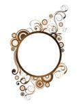 cirklar blom- element vektor illustrationer