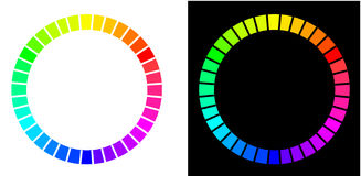 cirklar color två royaltyfri illustrationer