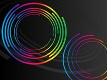 cirklar colorfulo stock illustrationer