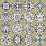 cirklar dekorativa dekorer Arkivbilder