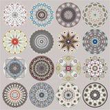 cirklar dekorativa dekorer Royaltyfria Bilder