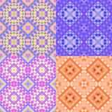 Cirklar den färgrika geometriska apelsinen för modellen sömlöst Vektorillu Royaltyfri Fotografi