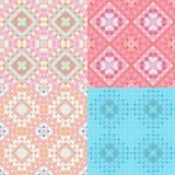 Cirklar den färgrika geometriska rosa färgen för modellen sömlöst Vektor Illust Royaltyfri Fotografi